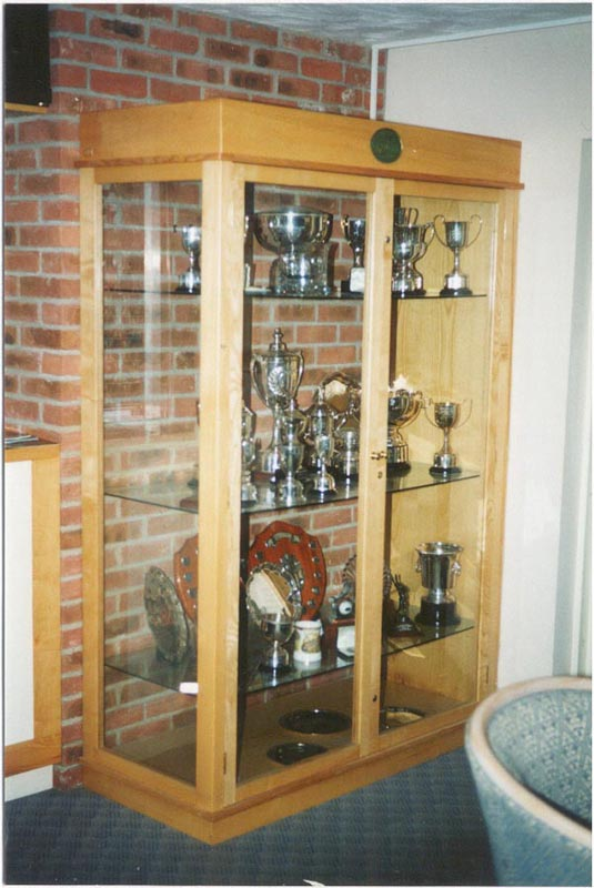 wooden trophies, carvings, display boards for golf clubs, honours ...
