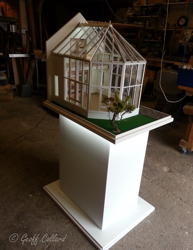 scale model of conservatory