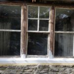 In my opinion this was a shame, the windows had been painted white for many years but Drew spent hours removing the paint so we could make sure to treat any rot but the windows looked great in the original oak state but they had to be painted, shame