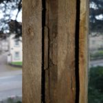 The two window joined together with the original wooden pullies in situ. I wonder where they originally came from