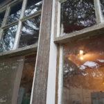 original cover strip in oak repaired with idigbo beadings