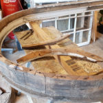 A good example of how they created the curve, if I were to make a new window thats not listed I would be laminating this arch which would make far stronger job.