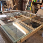 Laying out the old glass