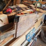 Burnt tenon ready to patch