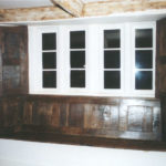 500 year old oak from an old asylum was used to make these shutters for a 500 year old farm house