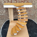 Helical stairs concept model