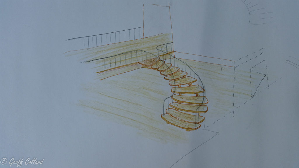 Helical stairs design