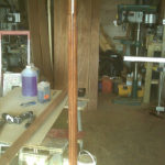 turned fluted post in mahogany