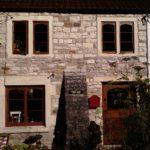 Oak windows and door on cottage
