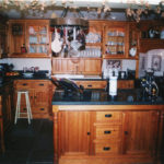 Kitchen in selected pine with minimum knotts