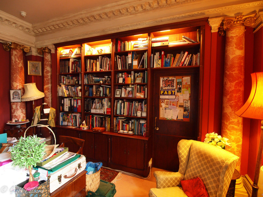 bookcase at great pulteney street bath but on opposite side to hidden bookcase door
