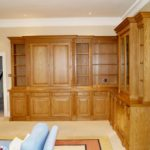 bookcase and tv cupboard show tv doors