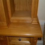 bookcase and tv cupboard close up