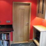 contemporary oak door