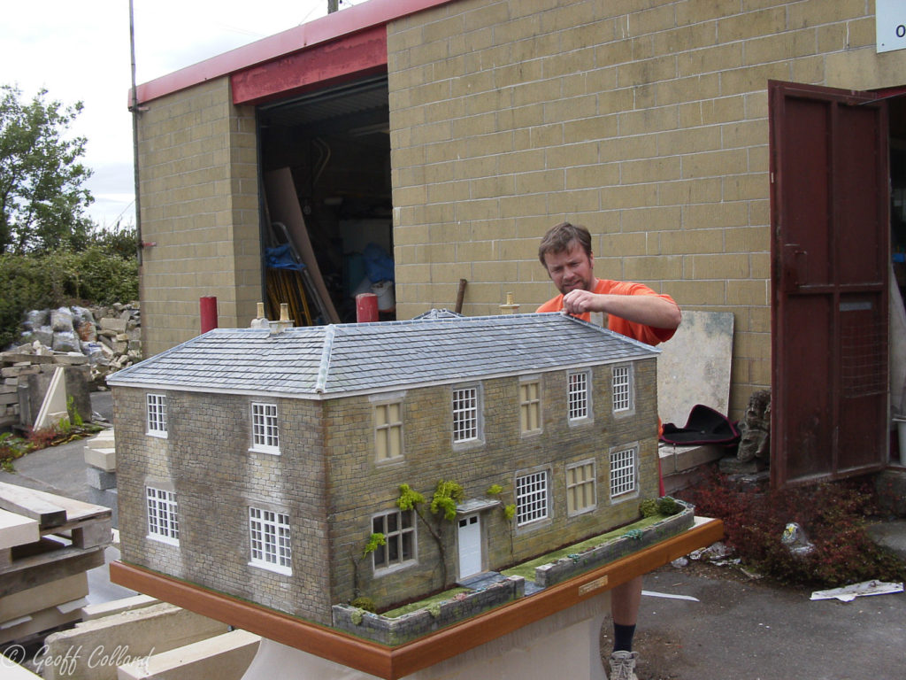 scale model of farm house