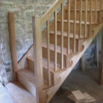Open string stairs in oak