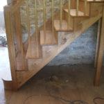Open string stairs in oak