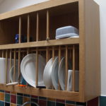 Oak plate rack which works, the under is open for the plates to drip into the sink