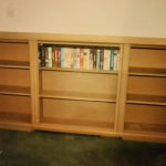 Secret bookcase door in mdf