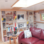 canel boat bookcase display unit