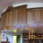 bath golf club honours boards from the side