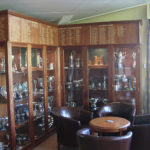 bath trophy cabinet with honours boards above