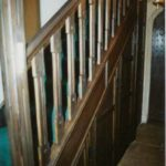 Making stairs look 500 years old at Bewley Court Lacock, distressed oak