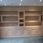 bookcase and cupboards in a contemporary style