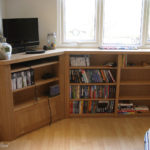 bookcase and media centre