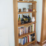 bookcase in chunky oak