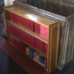 bookcase in oak to blend in with pews