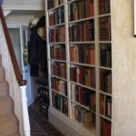 bookcase white painted mdf in hall