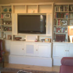 bookcase with tv inset