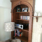 cabinet in alcove in dark oak