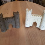 carving and resin cast of sham castle bath somerset