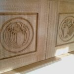 charles rennie mackintosh style design on oak doors