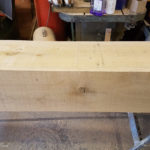 clean oak beam to cover rsj