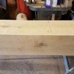 clean oak beam to cover rsj