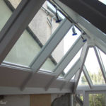 conservatory open to kitchen hardwood roof a