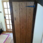 cupboard created in the style of the cottage beaded plank door