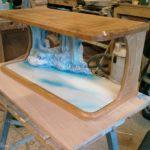 display case oak display case being created