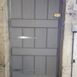 door beaded plank in idigbo showing ledgers
