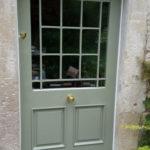 door painted glazed door