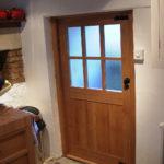 door short oak door with six glass panels