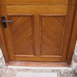 door stable door in oak with cross boarding