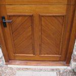 door stable door in oak with cross boarding