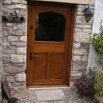 door stable door in oak with cross boarding and glazed top door 2