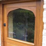 door stable door in oak with glazed top door
