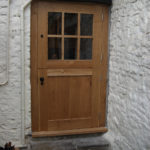 door stable door with six glazed panes