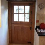 door stable door with six glazed panes